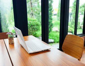 Home office in garden room